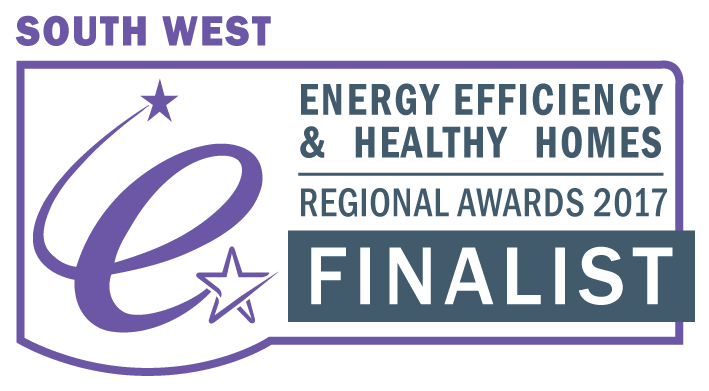 South West energy efficiency award 2017 finalist badge