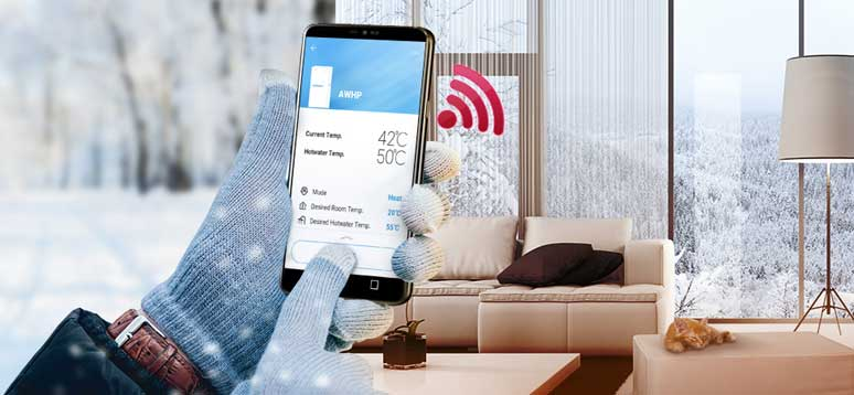 LG Therma ASHP remote control heating App